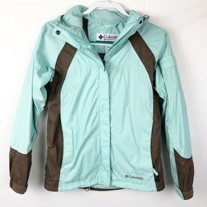 Columbia Women's Rain Jacket Small blue/brown